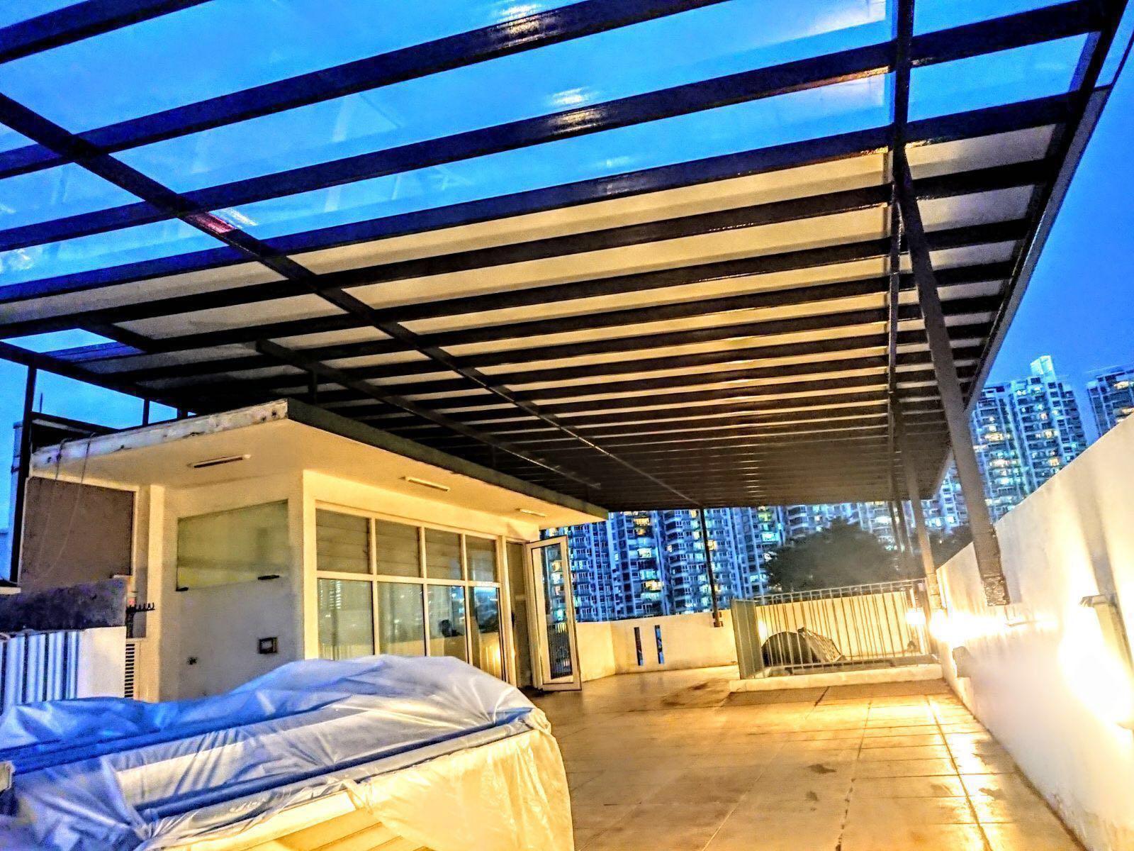 سقف پلی کربنات , پوشش سقف پلی کربنات